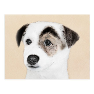 Parson Jack Russell Terrier Painting - Dog Art Postcard