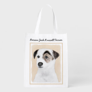 Parson Jack Russell Terrier Painting - Dog Art Reusable Grocery Bag