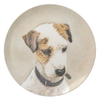 Parson Jack Russell Terrier Plate