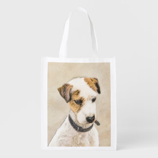 Parson Jack Russell Terrier Reusable Grocery Bag