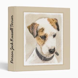 Parson Jack Russell Terrier Vinyl Binder