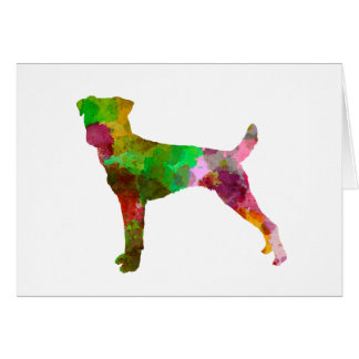 Parson Russel Terrier in watercolor Card