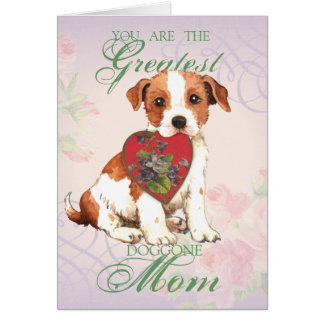 Parson Russell Heart Mom Card
