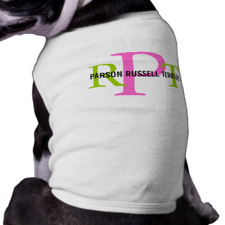 Parson Russell Terrier Breed Monogram Dog T-shirt
