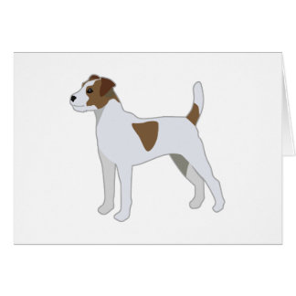 Parson Russell Terrier  Dog Breed Illustration Card