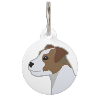 Parson Russell Terrier  Dog Breed Illustration Pet Tag