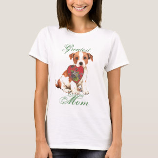 Parson Russell Terrier Heart Mom T-Shirt