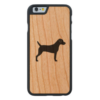 Parson Russell Terrier Silhouette Carved Cherry iPhone 6 Case