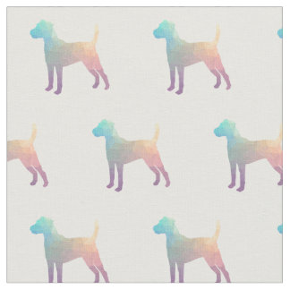 Parson Russell Terrier Silhouette Tiled - Pastel Fabric