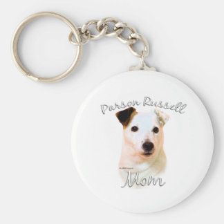 Parson Russell Terrier (smooth) Mom 2 Keychain