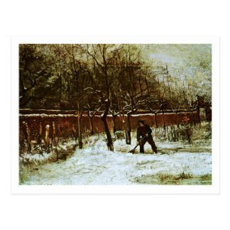 Parsonage Garden in Snow (F194)Van Gogh Fine Art Postcard