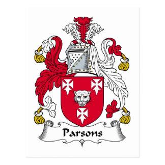 Parsons Family Crest Postcard