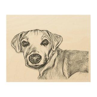 Parsons Jack Russell terrier sketch Wood Print