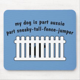 Part Aussie Part Fence-Jumper Mouse Pad
