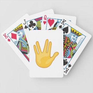 Part Between Middle and Ring Fingers - Emoji Bicycle Playing Cards