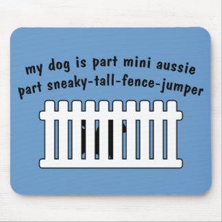 Part Mini Aussie Part Fence-Jumper Mousepad