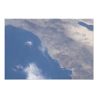 Part of southern California as seen from space Art Photo