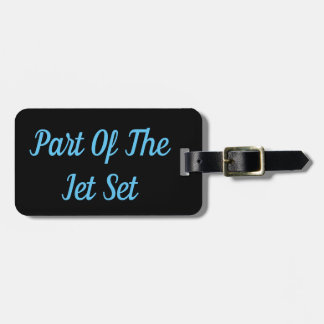 Part of The Jet Set Luggage Tag