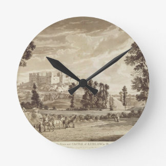 Part of the Town and Castle of Ludlow in Shropshir Clock