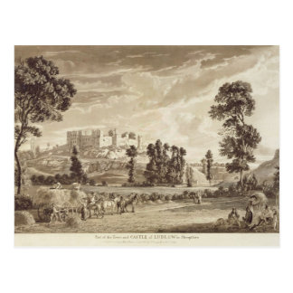 Part of the Town and Castle of Ludlow in Shropshir Postcard