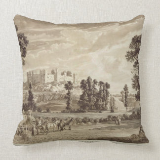 Part of the Town and Castle of Ludlow in Shropshir Throw Pillow