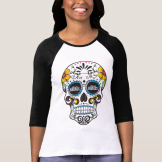 PART TIME BADASS- sugar skull raglan T-Shirt