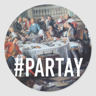 PARTAY Up In Here #Hashtag - Trendium Art Captions Classic Round Sticker