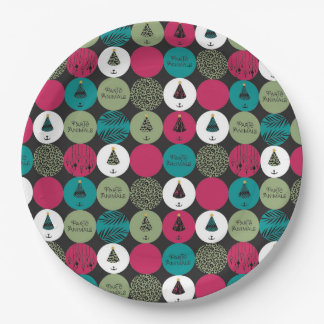 ParTé Animals Circles Paper Plate 9 Inch Paper Plate