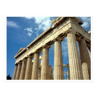 parthenon athenian postcard