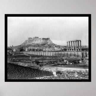 Parthenon Athens, Greece 1920 Poster