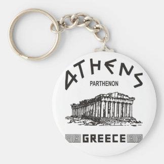 Parthenon - Athens - Greek black Key Chains
