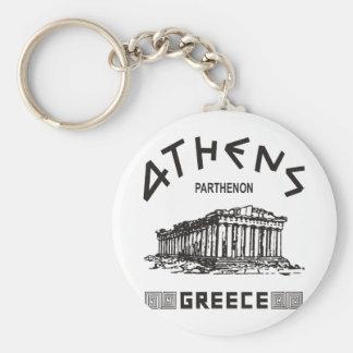 Parthenon - Athens - Greek (black) Keychain