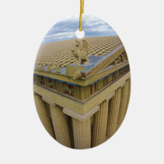 Parthenon Ceramic Oval Ornament