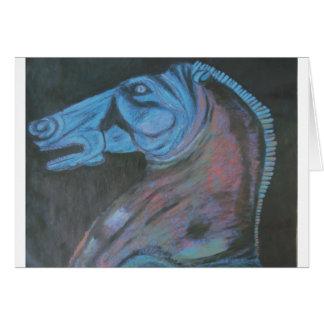 parthenon horse head card