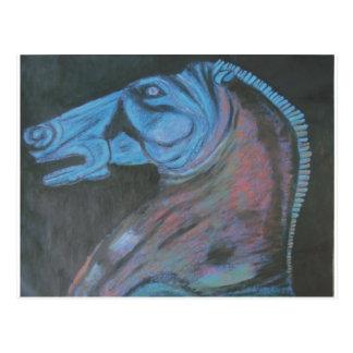 parthenon horse head postcard