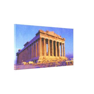 Parthenon Temple of Athena Canvas Print
