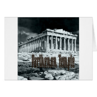 Parthenon temple series card