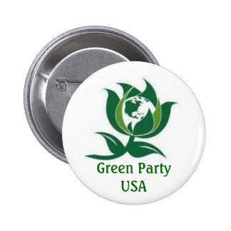 Parti Vert Etats-Unis Pin's Avec Agrafe