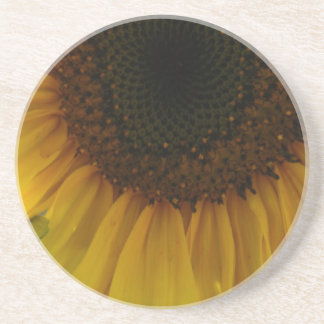 Partial Sunflower Beverage Coaster