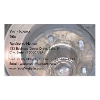 Partial vehicle brake disc and bolts pack of standard business cards