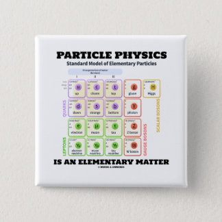 Particle Physics Is An Elementary Matter Model 2 Inch Square Button