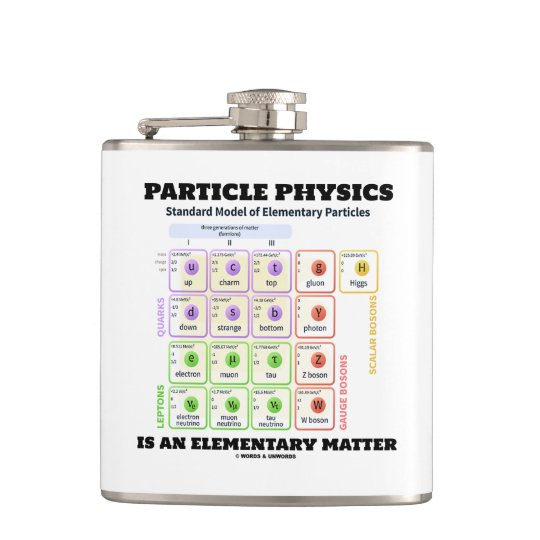 Particle Physics Is An Elementary Matter Model Hip Flask