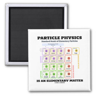 Particle Physics Is An Elementary Matter Model Square Magnet