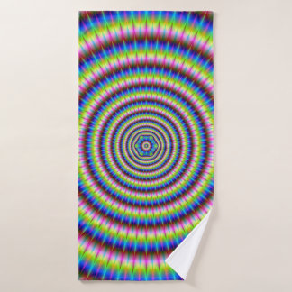 Particles and Waves with Floral Motif Bath Towel