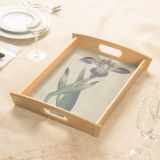 Particolored Iris Serving Tray