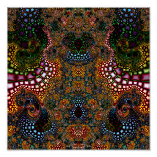 Particularized Dreamtime Variation 1 (12 by 12) Poster