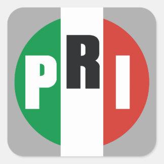 Partido Revolucionario Institucional Square Sticker
