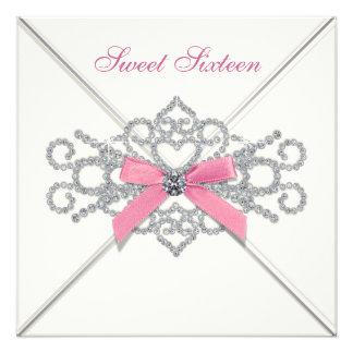 Partie blanche du bonbon 16 à rose de diamants bristol
