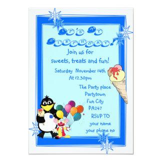 Partie d'anniversaire de enfant d'amusement carton d'invitation  12,7 cm x 17,78 cm
