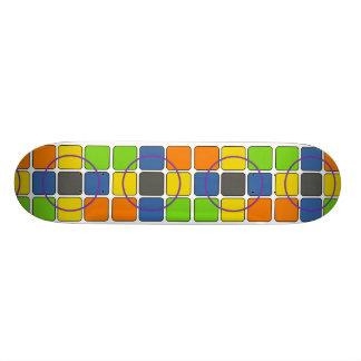 Partie de bloc planches à roulettes customisées